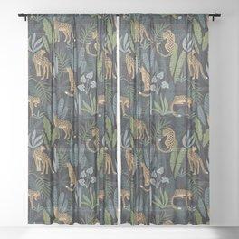 Wild Cheetah Prints Sheer Curtain