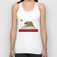 san diego Tank Tops featuring California Flag San Diego by NorCal