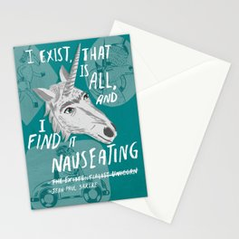 The Existentialist Unicorn Stationery Cards