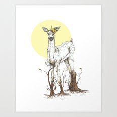 Doe Tree Art Print