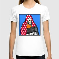 lichtenstein T-shirts featuring Röyksopp Forever Roy Lichtenstein Inspired Portrait 2 by Alli Vanes