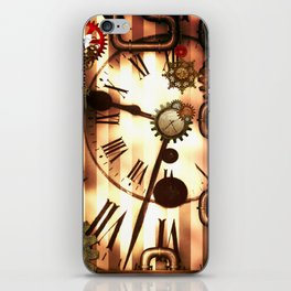 Steampunk, clocks and gears, vintage design iPhone Skin