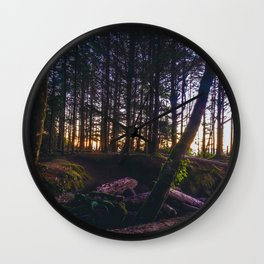 Wooded Tofino Wall Clock