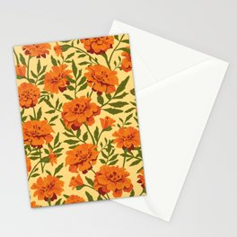 Marigold Flowers Pattern Stationery Cards