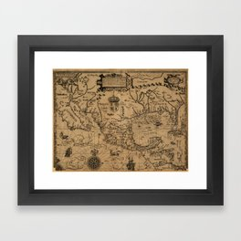 Map of Mexico and surrounding area (1600) Framed Art Print