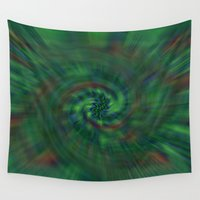 blur Wall Tapestries featuring Wicked Blur  by Lorna Kay