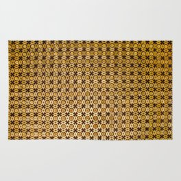 Gold and wood carving pattern Rug