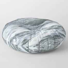 Staying Afloat in a World of Turmoil Floor Pillow