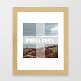 POSITIV Framed Art Print