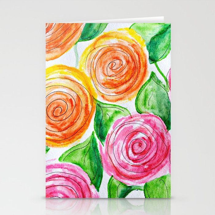 lollipop roses Stationery Cards