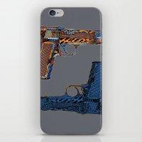 gun iPhone & iPod Skins featuring Gun N' Gun by Alex/Bourry