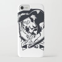 rock n roll iPhone & iPod Cases featuring Rock n roll skull by Shulyak Brothers
