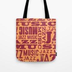 Jazz Poster Tote Bag