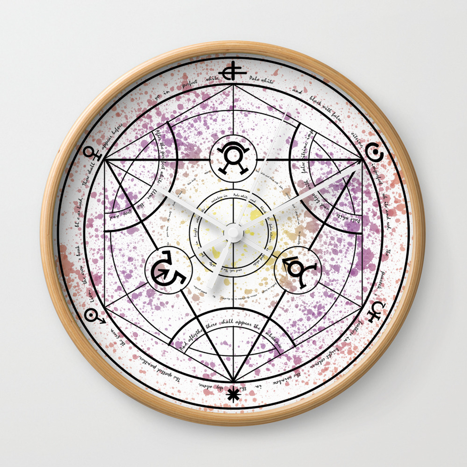 Transmutation Circle Fullmetal Alchemist Wall Clock By Maxiposters
