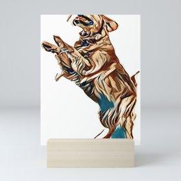golden retriever posing        - Image Mini Art Print