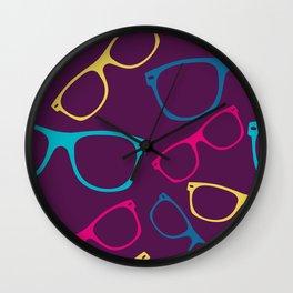 glasses Seamless pattern retro sunglasses Wall Clock