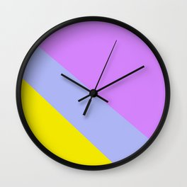 Abstract Minimal Color - Provence - Lavender at sunset Wall Clock
