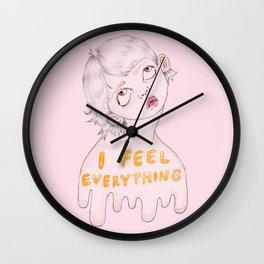 I feel everything Wall Clock
