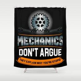 Mechanic Technician Engineering Auto-Mechanic Gift Shower Curtain