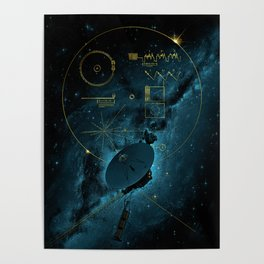 Voyager and the Golden Record - Space   Science   Sagan Poster