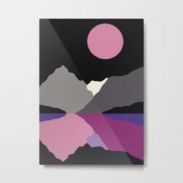 Moonlight On Lake Tanya Metal Print