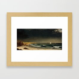Approaching Storm by Martin Johnson Heade, 1861 Framed Art Print
