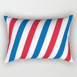 Blue, white and red stripes pattern Rectangular Pillow