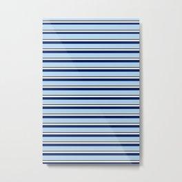 CLASSIC BLUE STRIPE DESIGN Metal Print