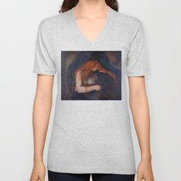 Edvard Munch - Love and Pain (The Vampire) Unisex V-Neck
