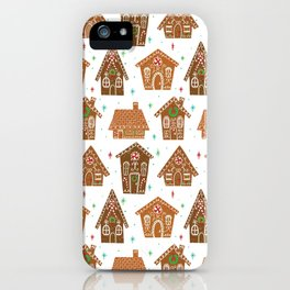 Gingerbread Pattern iPhone Case