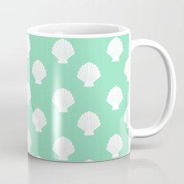 Seashells (White & Mint Pattern) Coffee Mug