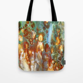 Amber River Lava Lace Flow Tote Bag