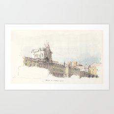 Praca do Comercio, Lisbon, Portugal. Art Print