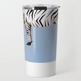 Geometric Zebra Travel Mug