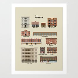 Edmonton Historical Buildings Art Print