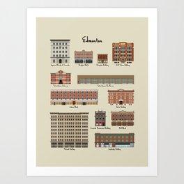 Edmonton Historical Buildings Art Print
