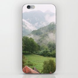 Morning in the mountains iPhone Skin