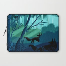 Shadow Wolves Stalk The Silver Wood Laptop Sleeve