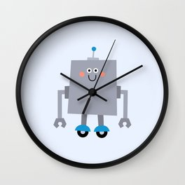 Cute Vintage Robot on wheels Wall Clock