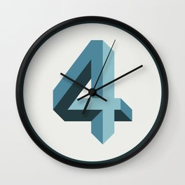LUCKY NUMBER 4 Wall Clock