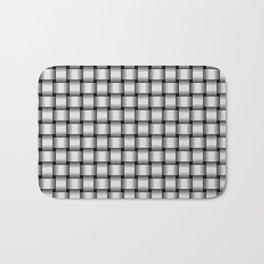 Small Pale Gray Weave Bath Mat