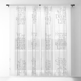 Happiness can be found Sheer Curtain