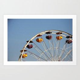 Ferris Wheel, Santa Monica Pier Art Print