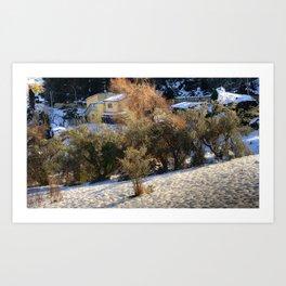Snow Dunes Art Print