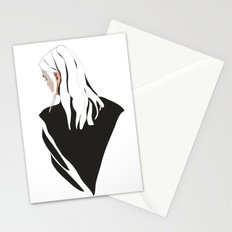 White Hair Stationery Cards