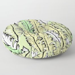 mint tropical Floor Pillow