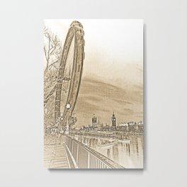 London Eye and Westminster Metal Print
