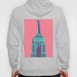 Empire State Building New York Art Deco - Red Hoody