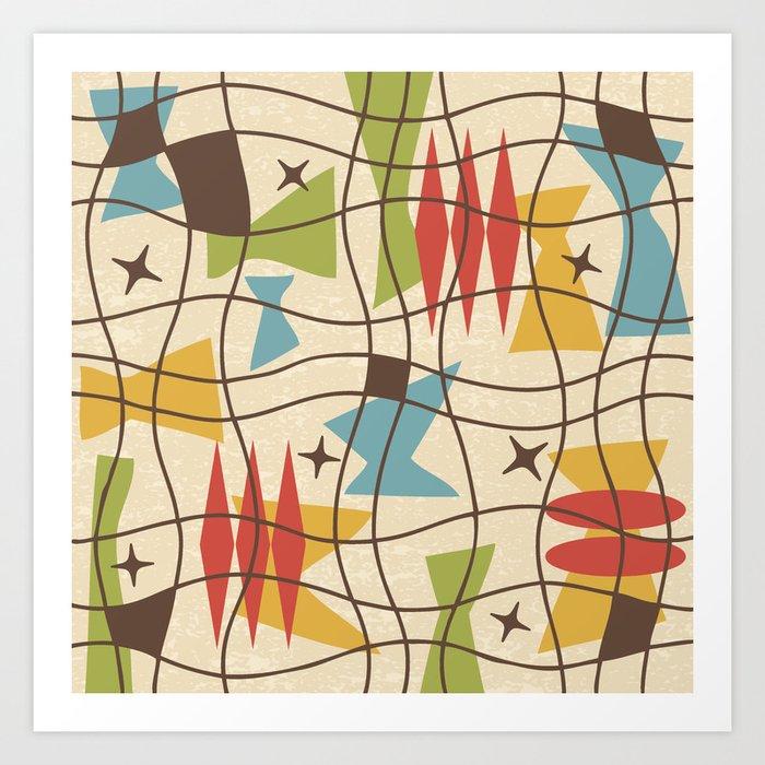 Mid Century Modern Abstract Pattern 571 Art Print