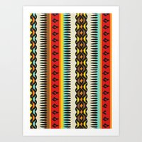 ethnic Art Prints featuring Ethnic by Katya Zorin